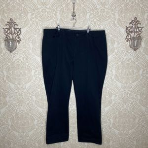Lane Bryant black curvy bootcut black denim pants